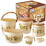 EMPORIUM Deluxe 6 Piece Bathroom Set for Home and Hotels