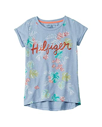 f2561df1 Image Unavailable. Image not available for. Color: Tommy Hilfiger Girls Palm  Tree T-Shirt ...