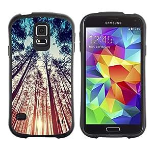 LASTONE PHONE CASE / Suave Silicona Caso Carcasa de Caucho Funda para Samsung Galaxy S5 SM-G900 / Teal Orange Sun Sunset Woods Summer