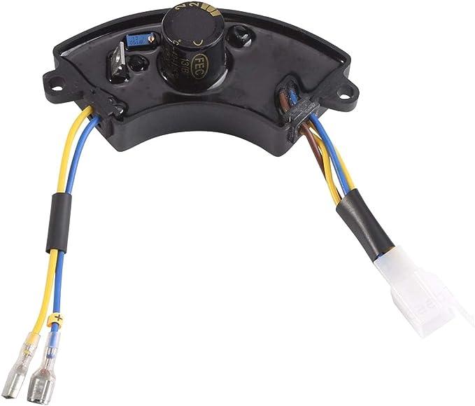 PRINDIY Regulador de Voltaje con Forma de Arco de luz, regulador de Voltaje automático AVR para generador de Corriente de Gasolina 168F 2KW-3KW