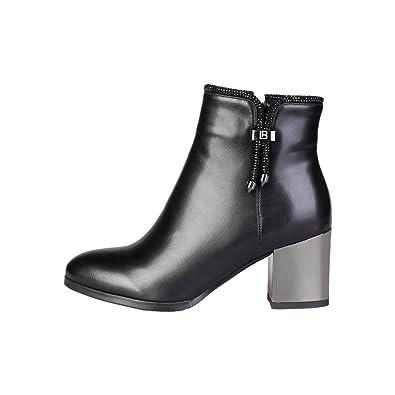 Laura Biagiotti 2173 Bottines Femme Noir Noir - Chaussures Bottine Femme