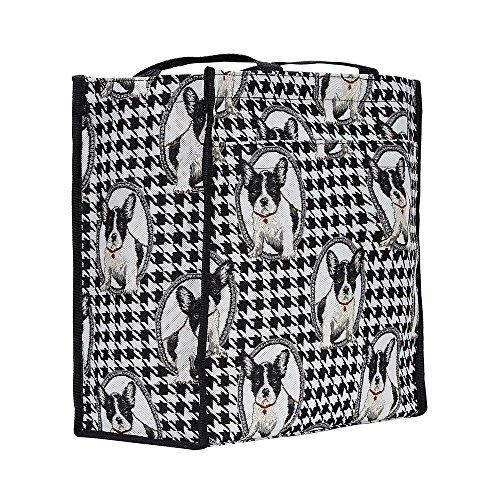 animal moda Bolso de bolso Signare de Bulldog para tapiz mujer Shopper hombro French aSqwSTFnv