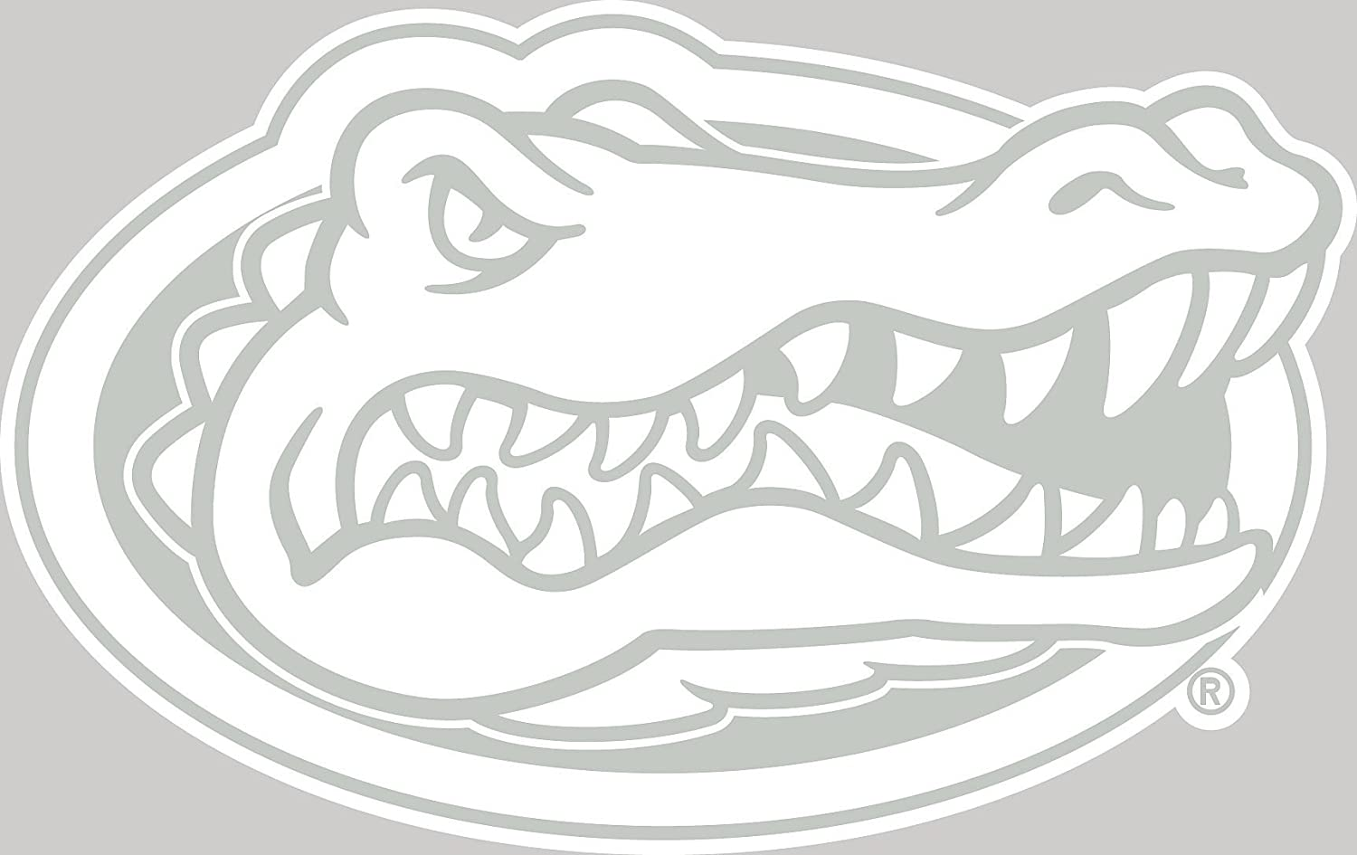 amazon com ncaa florida gators white logo decal automotive