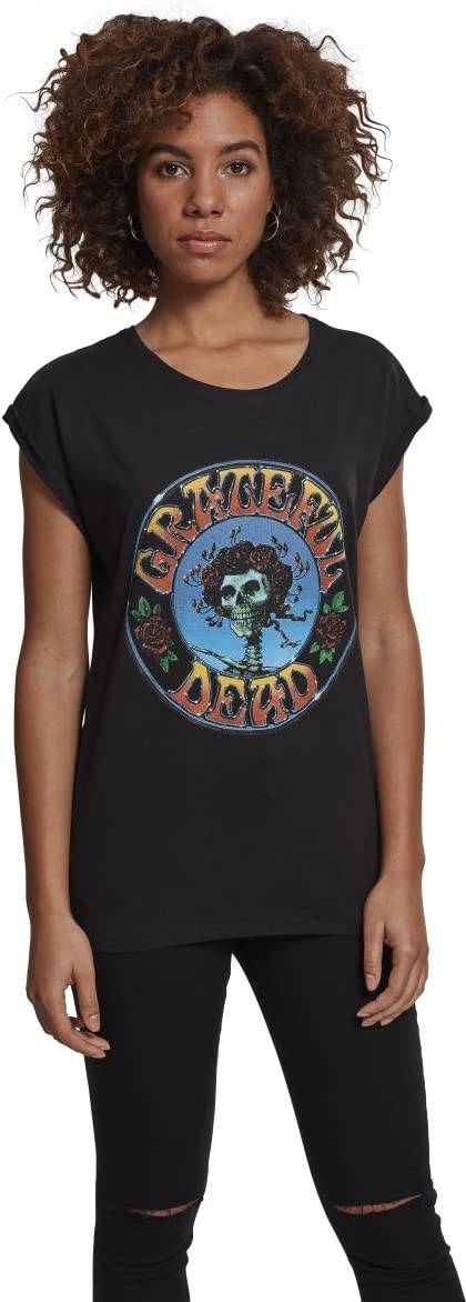 TALLA XS. MERCHCODE Ladies Grateful Dead Head tee, Camiseta para Mujer