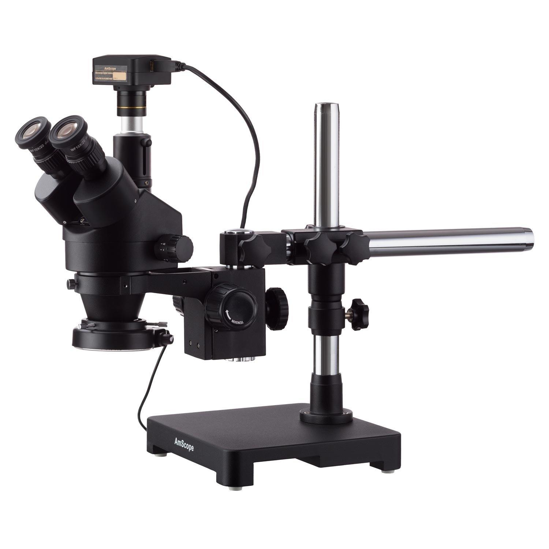 AmScope 3,5 x 45 x Trinokular Trinokular Trinokular Zoom Stereo Mikroskop über Single-Boom Stand, 144-LED ring-light 10 MP USB-Kamera B077H63181 | Schön geformt  | Vorzügliche Verarbeitung  | Sale  99ff1a