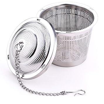 BESTONZON 2 unids Filtro de colador de té de Acero ...
