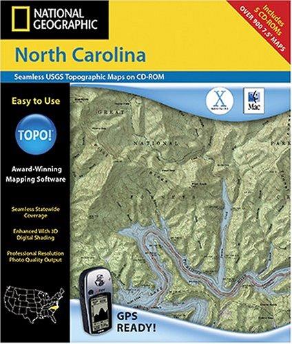 National Geographic TOPO! North Carolina Map CD-ROM (Mac)