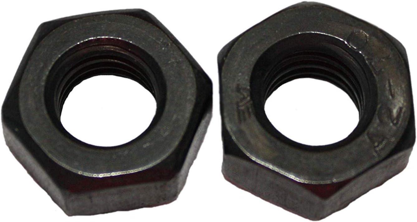 25, M5 Schwarze Sechskantmutter DIN 934 Edelstahl A2 M3 M4 M5 M6 M8 M10