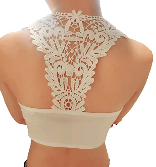 e494930d8cc Usstore Underwear Intimates Sexy Summer Cut Out Bra Crop Round Neck Cotton  Blended Vest Bustier Corset Tops Tank Top For Women Lady teens Blouse  (White) at ...