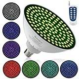 Led Pool Lights,Bonbo 120V 35W RGB Color Changing Swimming Pool Lights w/ Wireless Advance RF Remote Control Fits Hayward Pentair Light Fixture Niche PAR56 E26 Edison Base
