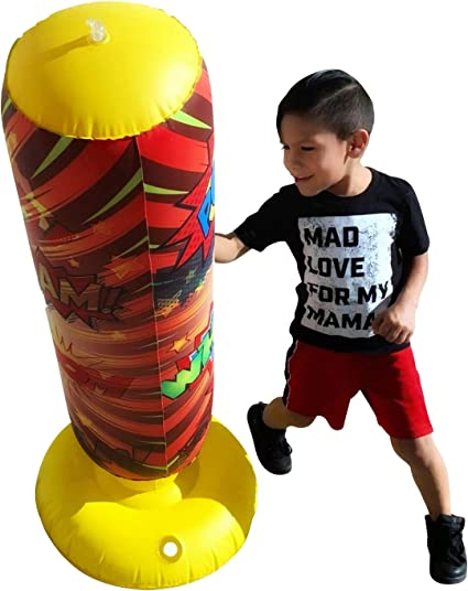 Details about  /IWANNA Fitness Punching Bag Inflatable Punching Tower Bag Freestanding Children