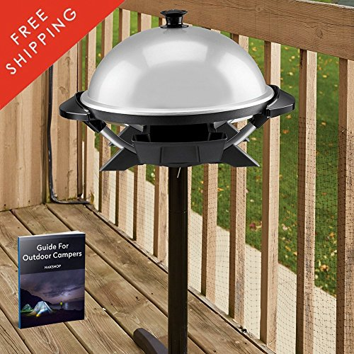 Electric Grills Indoor Outdoor Tabletop Bbq Portable Barbeque Backyard Camping Sandwich Grilled Chicken Hamburger Burger Camp Rv Patio Grilling Countertop Kitchen Adjustable Heat And eBook By NAKSHOP by NAKSHOP