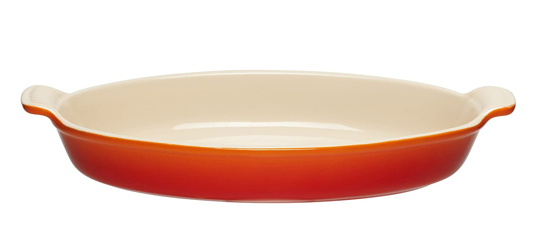 Le Creuset Heritage Stoneware 1-Quart Oval Au Gratin Dish, Flame Le Creuset of America PG0400-2402