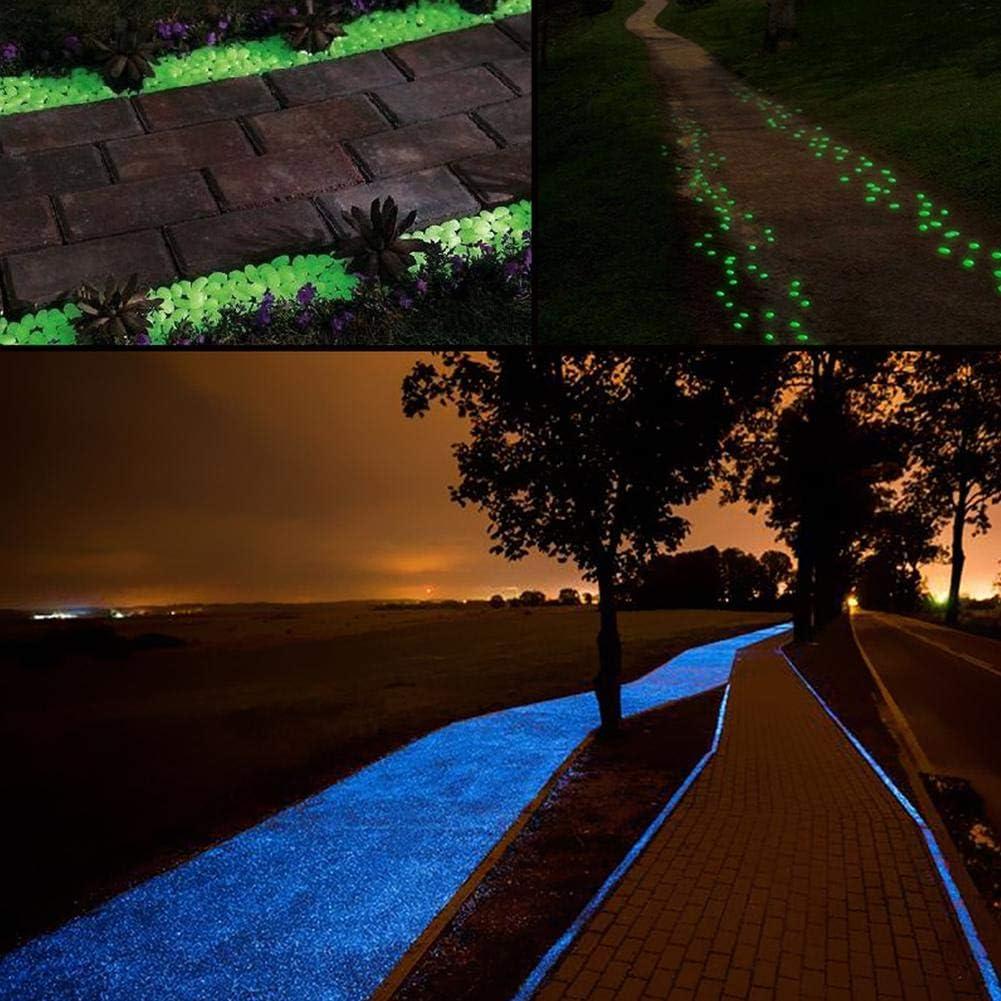 pot de plantes de voie de jardin r/éservoir de pois lueur dans la pierre d/écorative fonc/ée pour le d/écor de passerelles Pierre incandescente de r/ésine cailloux lumineux brillant de jardin de SAWEY
