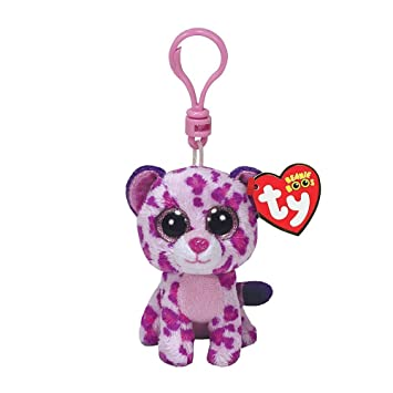 e3534d912d3 Amazon.com  Ty Beanie Boos Glamour Pink Leopard Boo Key Clip by Ty  Baby