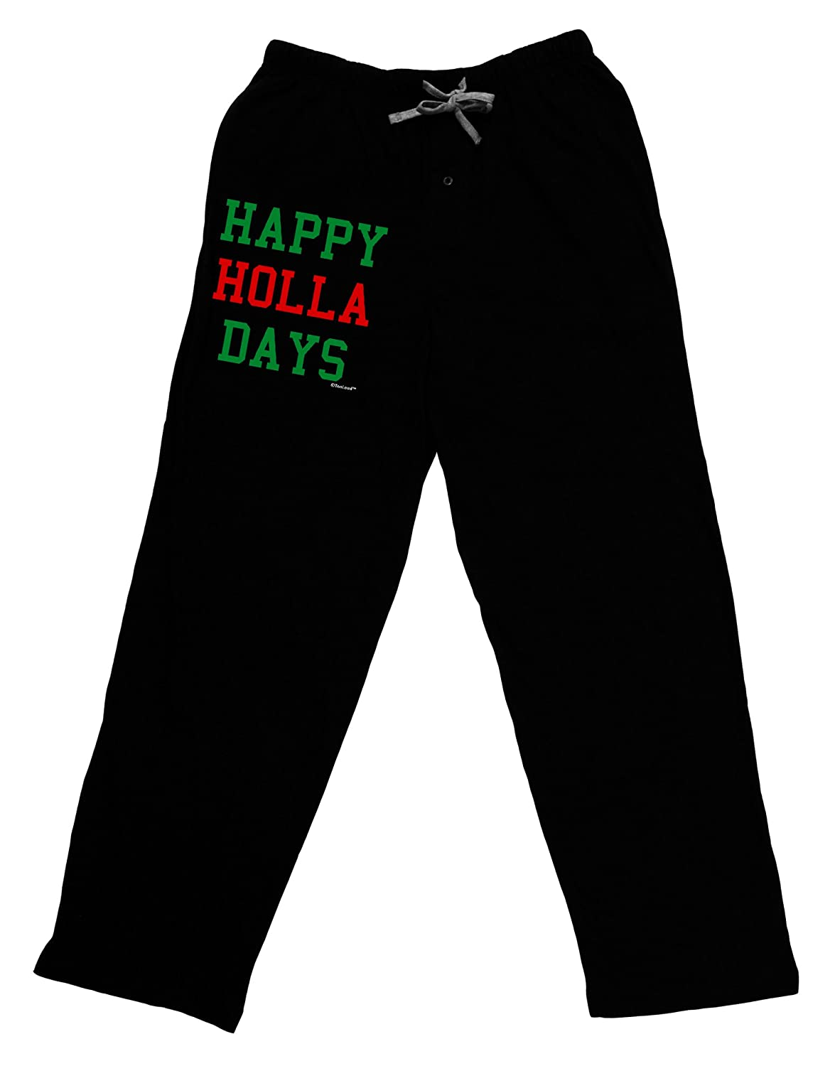 Black Red and Green Adult Lounge Pants TooLoud Happy Holla Days