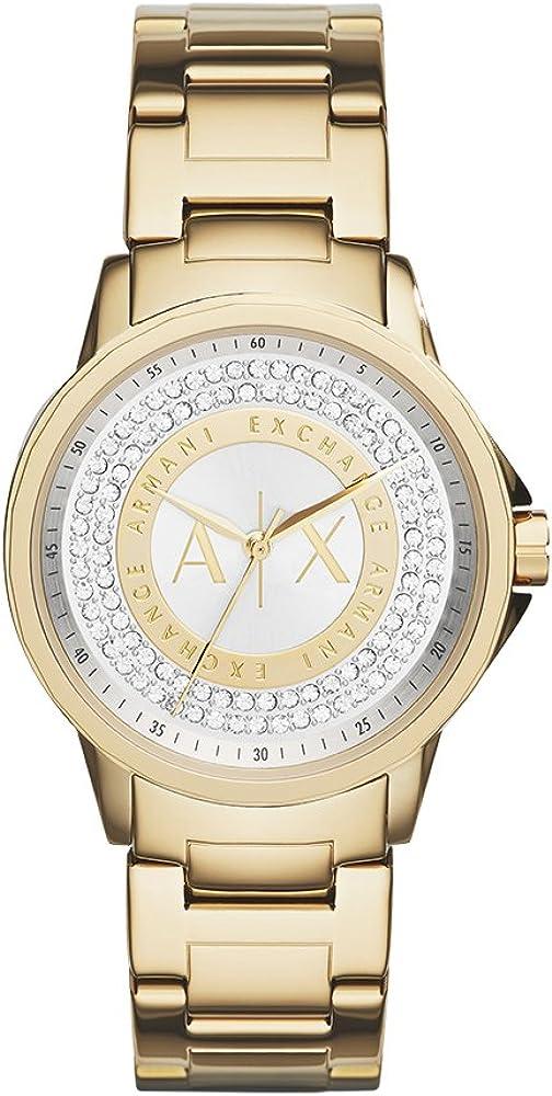 Armani Exchange Reloj Analogico para Mujer de Cuarzo con Correa en Acero Inoxidable