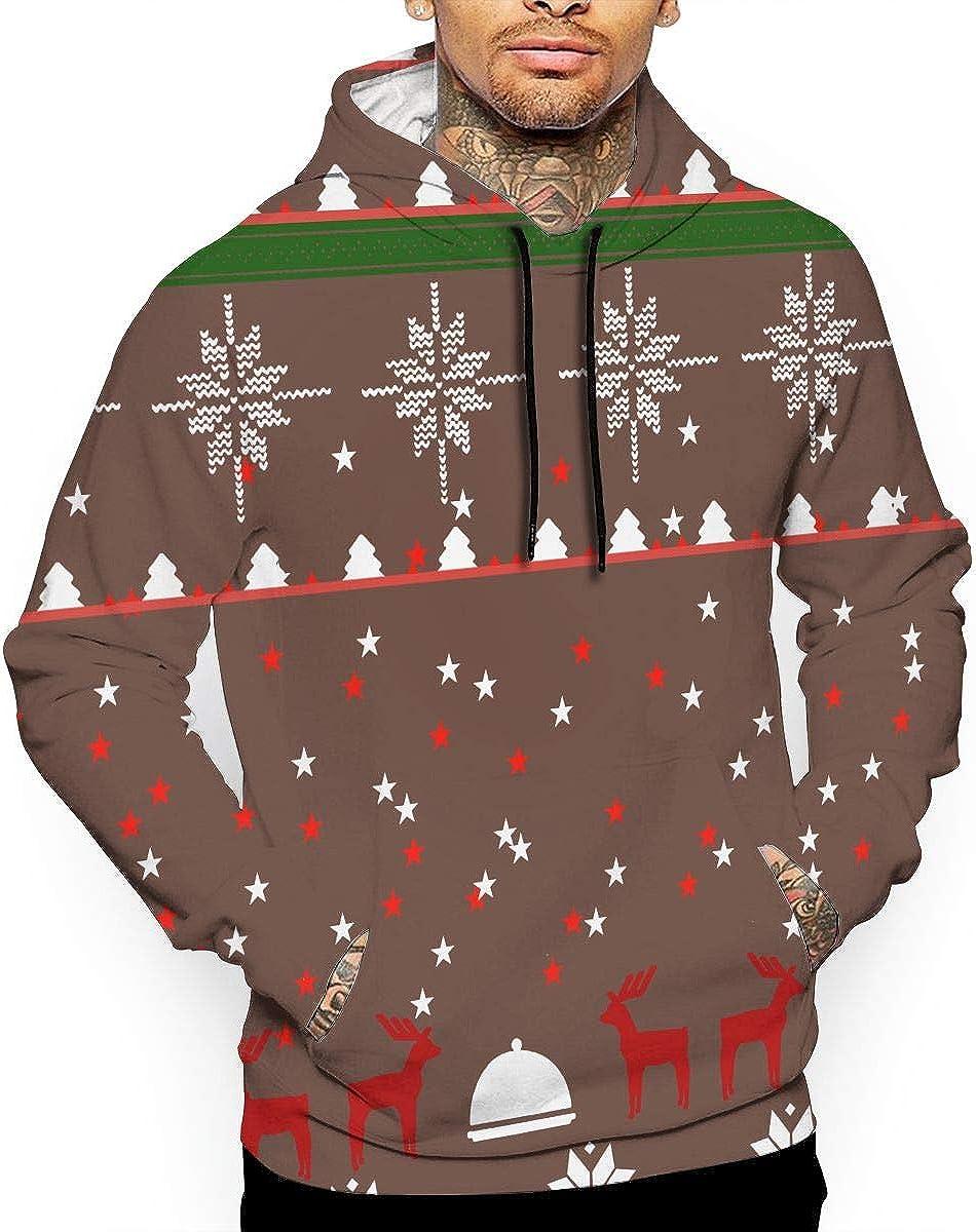 OPQRSTQ-O Dabbing Panda Ugly Christmas Xmas Mens Funny Hooded Sweatshirt Sweater