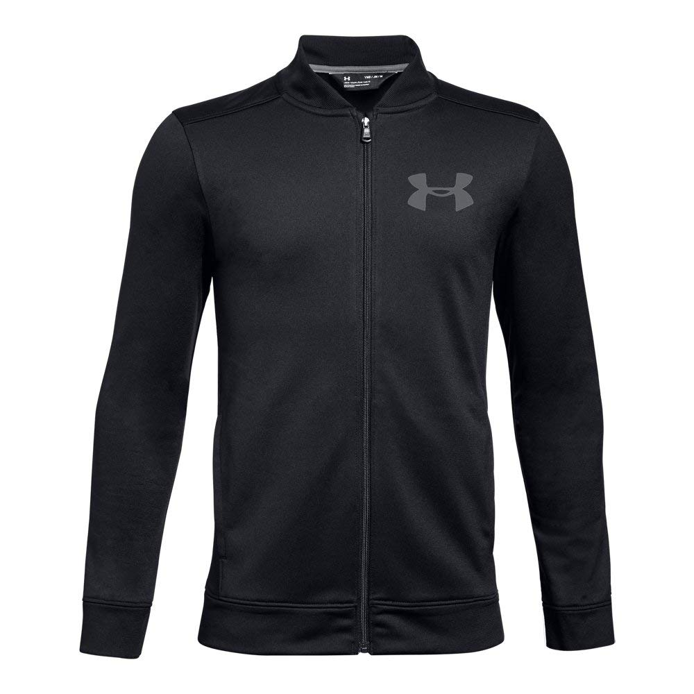 Under Armour Boys Pennant Jacket 2.0, Black (001)/Graphite, Youth Large