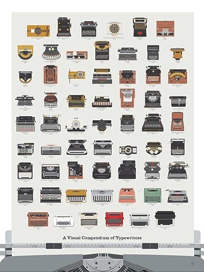 Cartel de la impresión del arte de la máquina de escribir - un compendio visual de