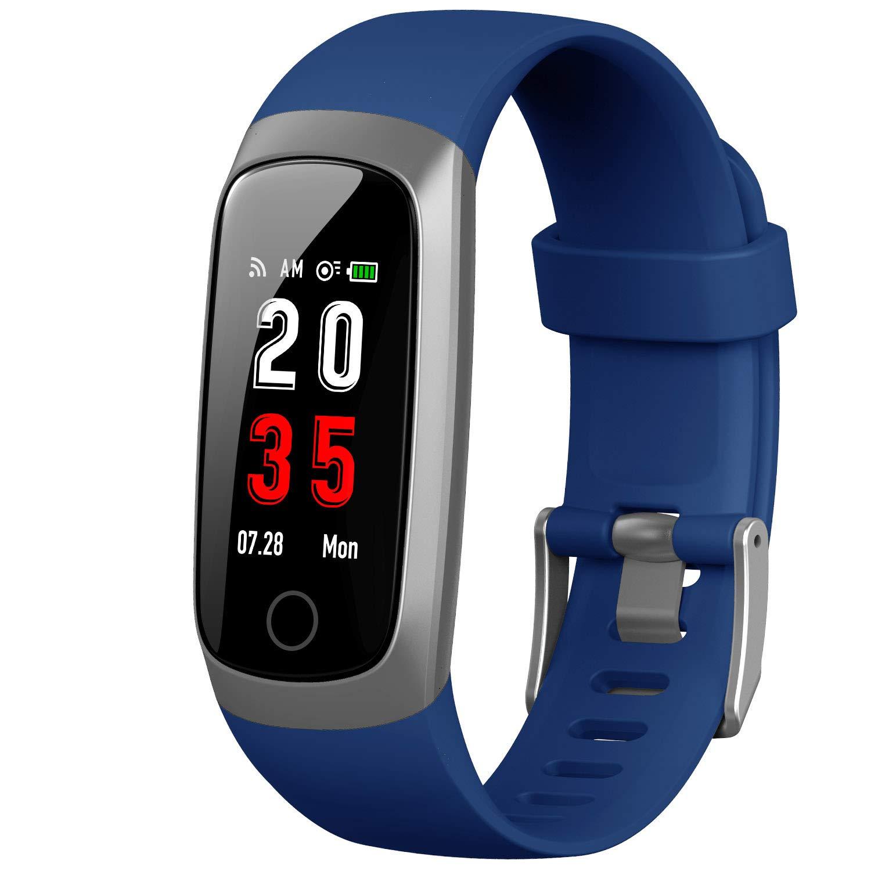 Trswyop Pulsera de Actividad Inteligente, Reloj Inteligente Hombre Mujer con Pulsómetro y Presión Arterial Reloj