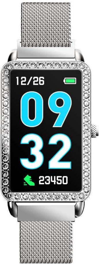 luckyddu Smartwatch Reloj Inteligente Relojes Pulsera de Actividad Deportivo, Sra. Pulsera Inteligente Pulsera de Ritmo Cardíaco Ip68 Impermeable Contador de Pasos Información Informe de Recordatorio