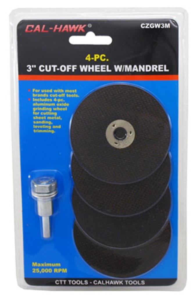 "1/4"" Die Grinder Mandrel & 4-PC. Metal Cutting Wheel Set"