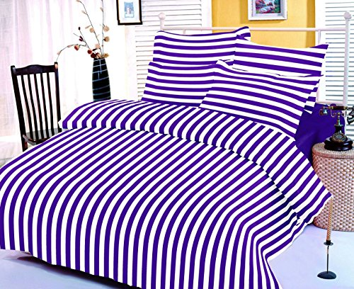jiya Decor 100% Cotton Double Bed Sheet With 2 Pillow Cover-G1-AMZ1041