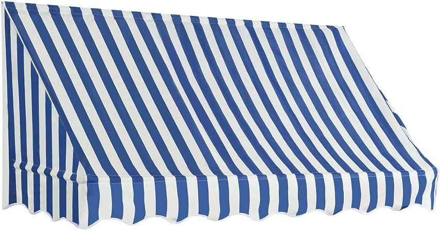 vidaXL Toldo para Bar 200x120cm Azul y Blanco Accesorios Casa Jardín Terraza: Amazon.es: Hogar