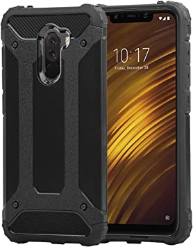 Funda Xiaomi Pocophone F1 + Cristal Templado, Weideworld Robusta ...