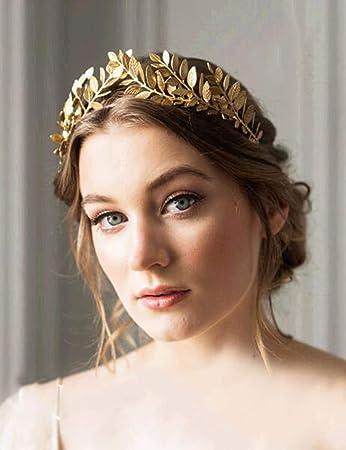Gold leaf hair vine Bridal leaf headband Gold leaf headband Laurel leaf hair vine Gold leaf crown Gold leaf headpiece Leaf wedding vine