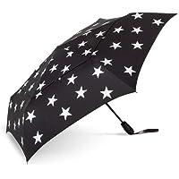 ShedRain WindPro Vented Auto Open Auto Close Compact Wind Umbrella: Five Point Silver Stars