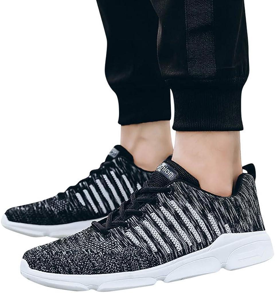 Kaister Baskets_Chaussures De Course Décontractées Tendance Sauvages De Grande Taille avec Baskets Respirantes Tissées pour Hommes Noir