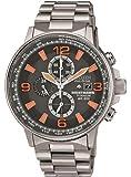 Citizen Nighthawk Men's Quartz Watch CA0500-51H w/ Silver Titanium Bracelet