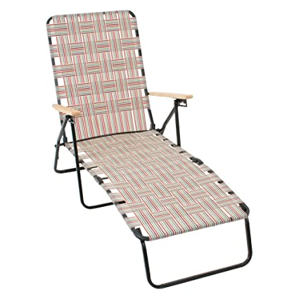 Amazon.com : RIO Brands Rio Deluxe Folding Web Chaise Lounge Chair : Garden  U0026 Outdoor