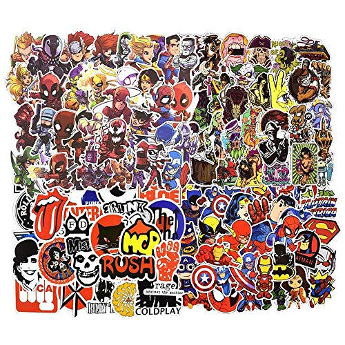 YSSHUI Stickers 100pcs, Laptop Stickers Waterproof Vinyl Stickers 3D Stereo Feeling Motorcycle Bicycle Luggage Decal Graffiti Patches Skateboard Stickers
