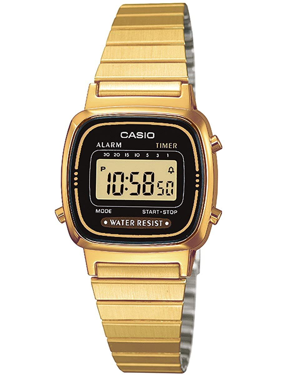 LA670WGA-1D Ladies Gold Tone Digital Watch RETRO