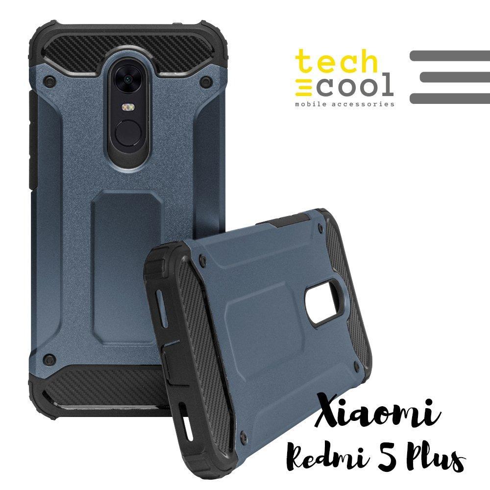 Funda para Xiaomi Redmi 5 Plus / Xiaomi Redmi Note 5 TechCool® I Carcasa Funda Diseño Armor Case Color [Blanco] 2 en 1 Gran Resistencia I Fabricada en 2 Piezas 1 TPU + PC Gran Resistencia Ante Golpes I Serie 2 in 1 Armor Case GTCL-001