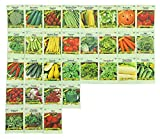 Black Duck Brand Set of 31 Vegetable Seeds (31 Variety Deluxe Vegatable Garden) 100% Non-GMO Heirloom