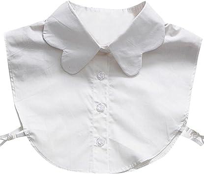 hunpta mujeres onda nueva blusa falso cuello camisa de la ropa extraíble), blanco: Amazon.es: Deportes y aire libre
