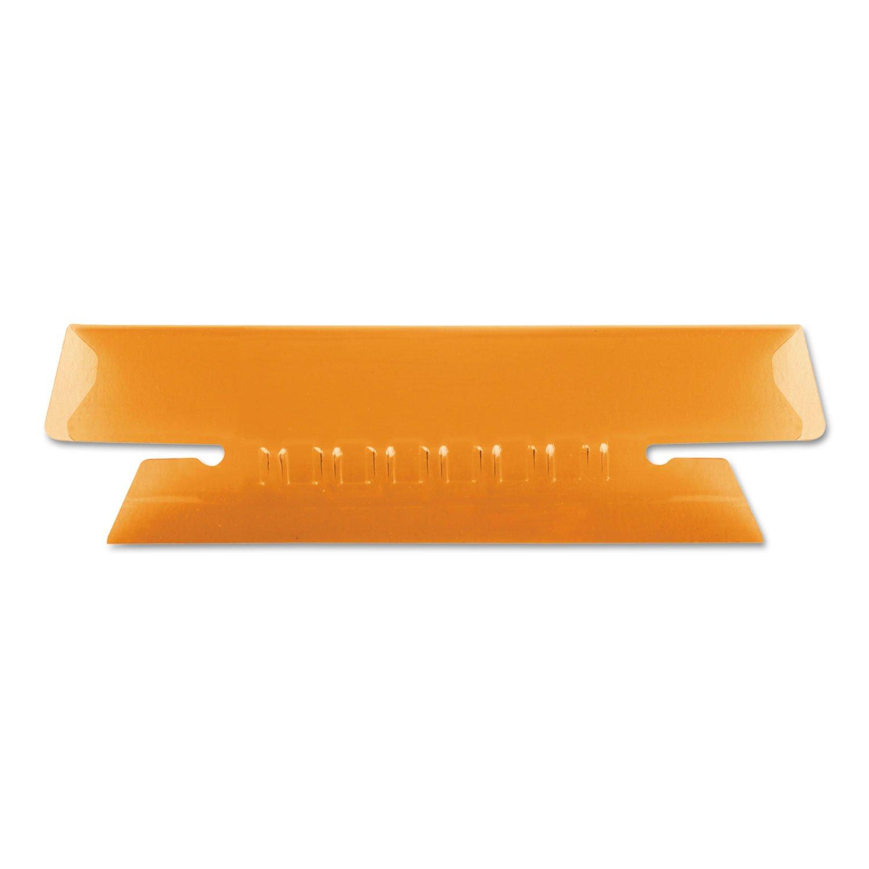 Pendaflex 4312ORA Hanging File Folder Tabs, 1/3 Tab, 3 1/2 inch, Orange Tab/White Insert, 25/Pack