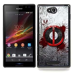 """Qstar Arte & diseño plástico duro Fundas Cover Cubre Hard Case Cover para Sony Xperia C (Salpicón de la sangre sesión"""")"""