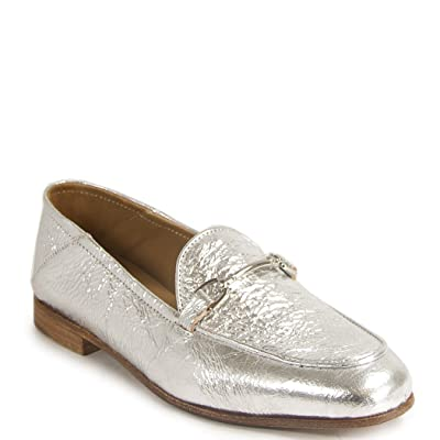 275 Central - 1319 - Metallic Leather Loafer, Pewter 36.5 Medium