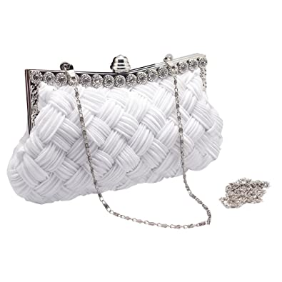 c43f82d6e989e Hysagtek Handbags Vintage Beaded Pearl Rhinestone Ladies Evening Clutch Bag  Party Wedding Bridal Prom Purse Bag Chain Bag: Amazon.co.uk: Shoes & Bags