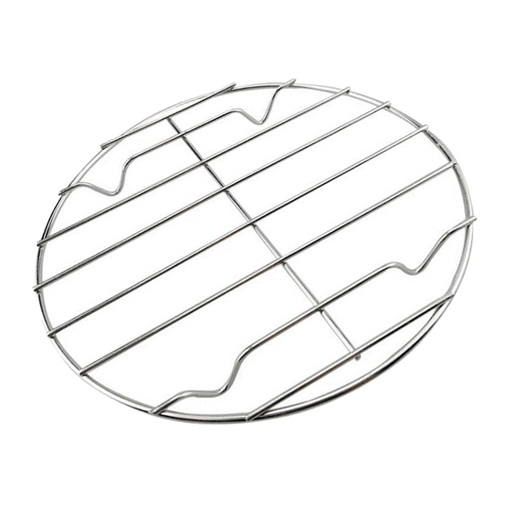 Also can be Used as a Baking Cooling Rack Silver LOVIVER Cooking Grate Nonstick Metal Grilling BBQ Mesh for Chicken Fish Food Stainless Steel Round Cooking Grid 20cm