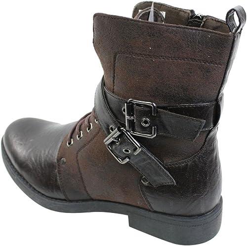 Schwarz Gothic Goth Steam-Punk Rock Damen-Stiefel Schuhe women boots Kostüme EMO