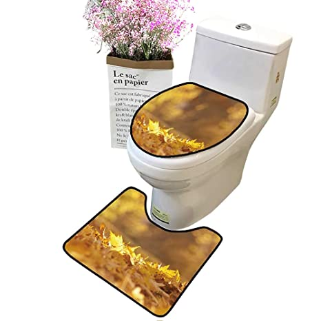 Miraculous Amazon Com Bathroom Rug Toilet Sets Golden Autumn Leaves On Inzonedesignstudio Interior Chair Design Inzonedesignstudiocom