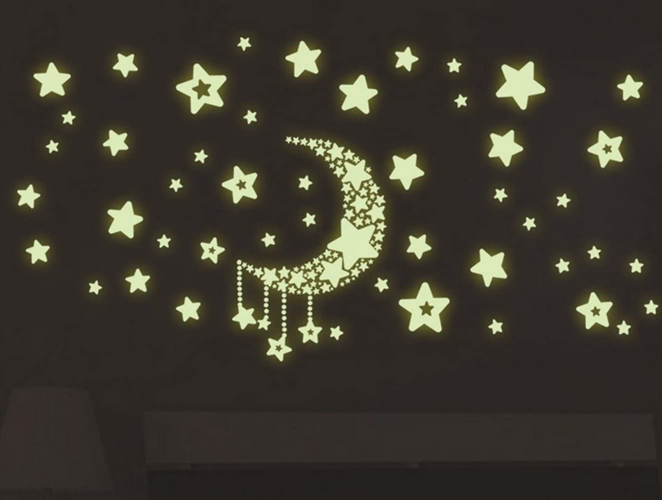 Amazon Com Wonder Stars Fluorescent Dot Glow In The Dark Stickers Wall Decals Home Art Decor Decal Vinyl Removable Radium Night Glow Wall Decals Glow Night Star Sticker Mural Art Wallpaper 20x25cm 8inchx9inch Home