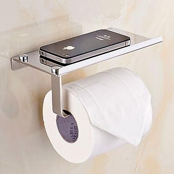 LHM PortePapier Toilette Mural Avec Etagère De Rangement En - Porte rouleau papier wc