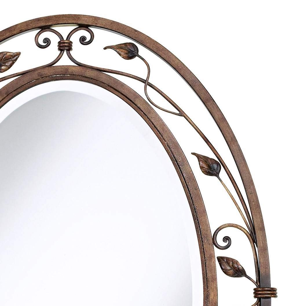 Franklin Iron Works Eden Park Collection 24 x 34 Oval Wall Mirror